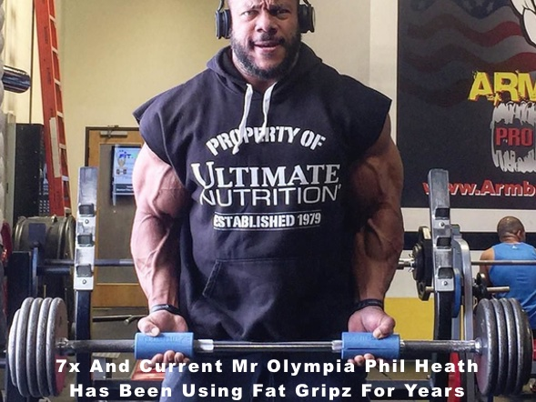 Phil Heath 7x Mr Olympia with fat gripz