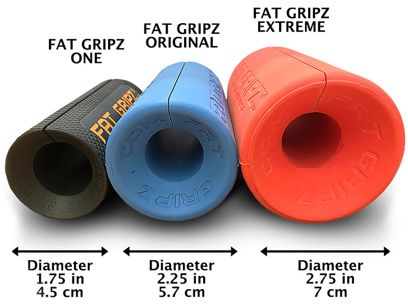 The different types of fat gripz